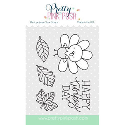 Pretty Pink Posh Clear Stamps, Happy Turkey -