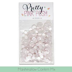 Marshmallow Confetti Mix, Pretty Pink Posh Sequins -