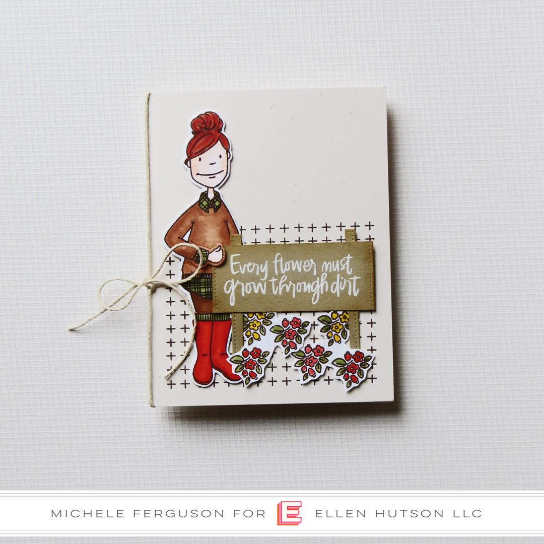 Leading Ladies - Cozy Lady by Brandi Kincaid, Essentials By Ellen Clear Stamps -