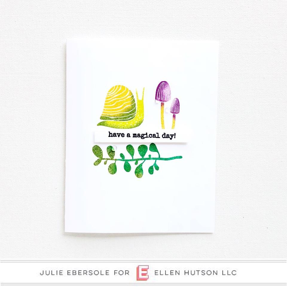 Snailed It by Julie Ebersole, Essentials By Ellen Clear Stamps -