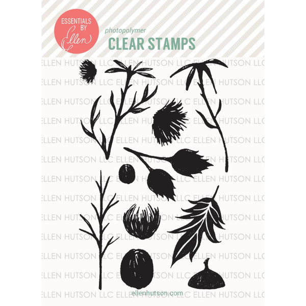 Essentials By Ellen Clear Stamps, Thistle by Julie Ebersole -