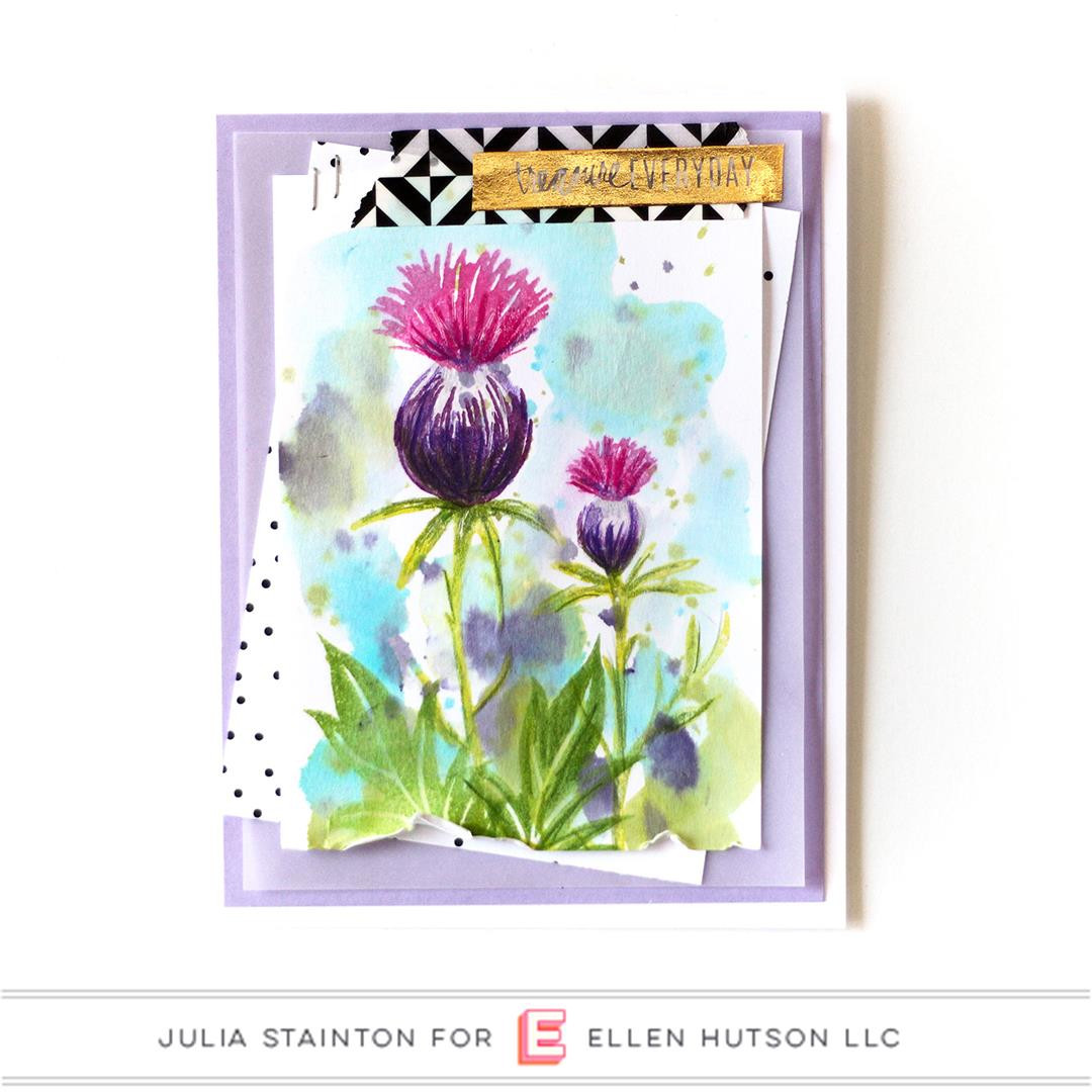 Thistle by Julie Ebersole, Essentials By Ellen Clear Stamps -