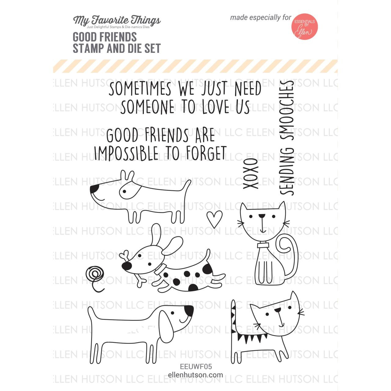 United We Flourish Stamp & Die Combo, Good Friends by My Favorite Things -