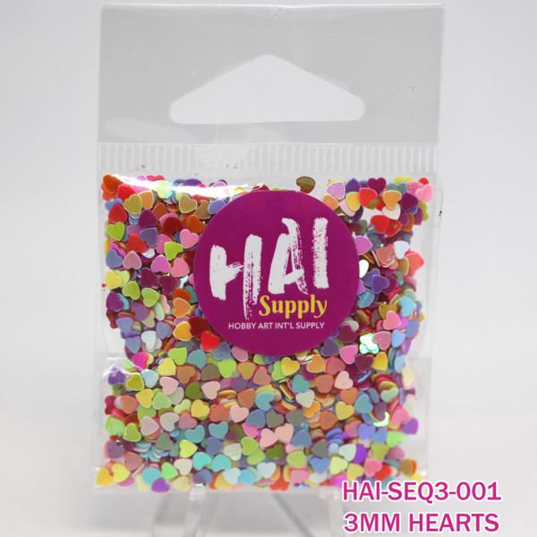 HAI Sequins, 3mm Heart -