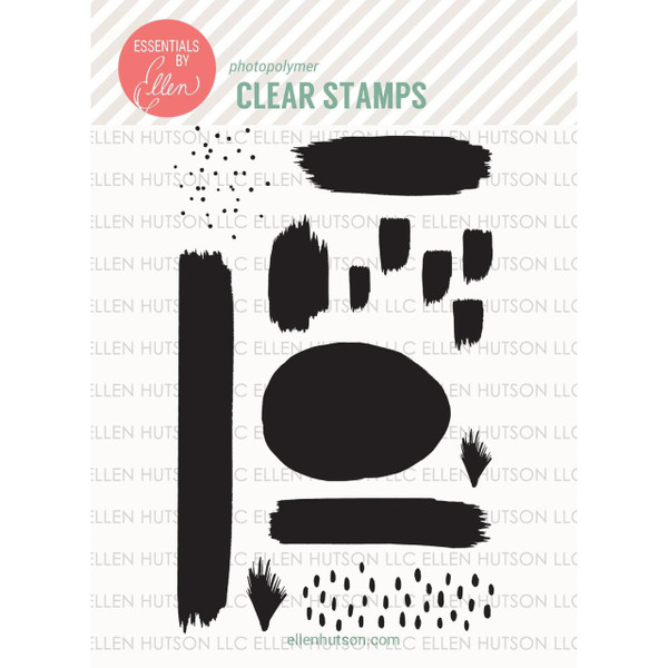 Essentials by Ellen Clear Stamps, Abstract Paint Strokes by Julie Ebersole -