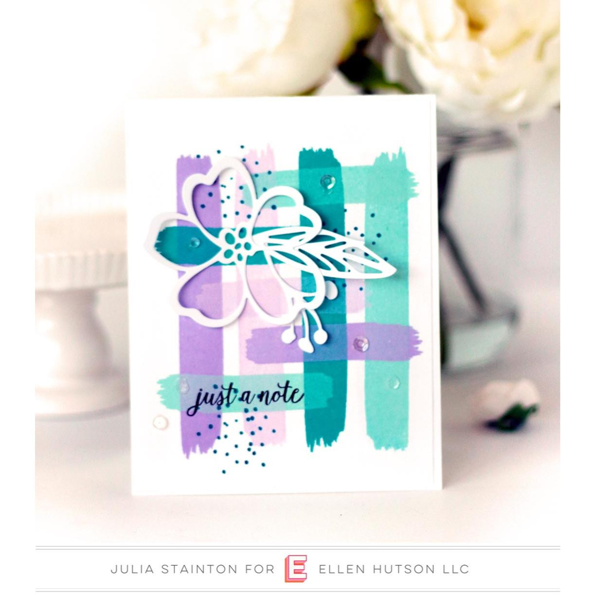 Abstract Paint Strokes by Julie Ebersole, Essentials by Ellen Clear Stamps -