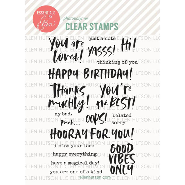 Totally Random Sayings Vol. 1 by Julie Ebersole, Essentials by Ellen Clear Stamps -
