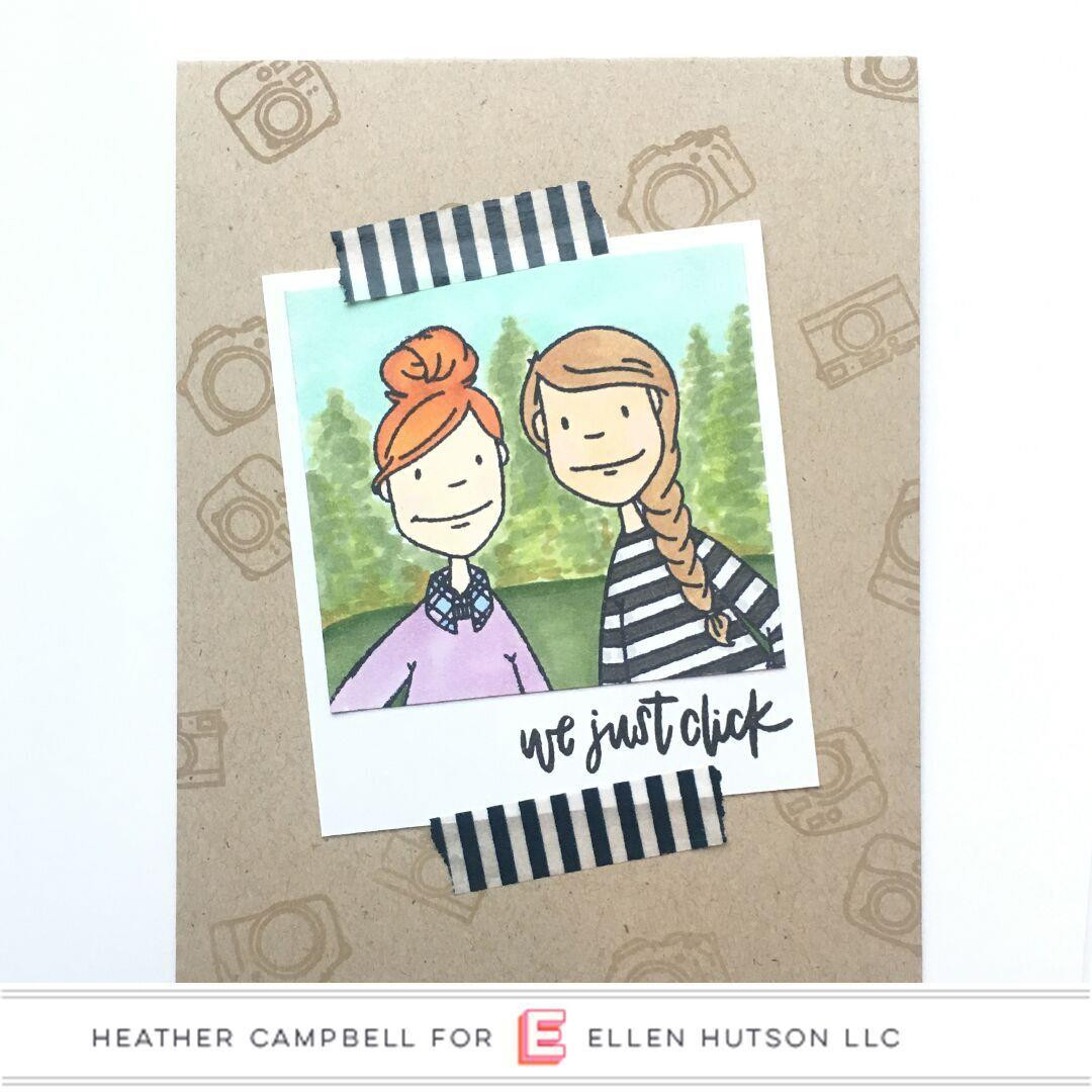 Leading Ladies - Photo Lady by Brandi Kincaid, Essentials by Ellen Clear Stamps -