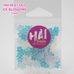 HAI Sequins, 7mm Ice Blossom -