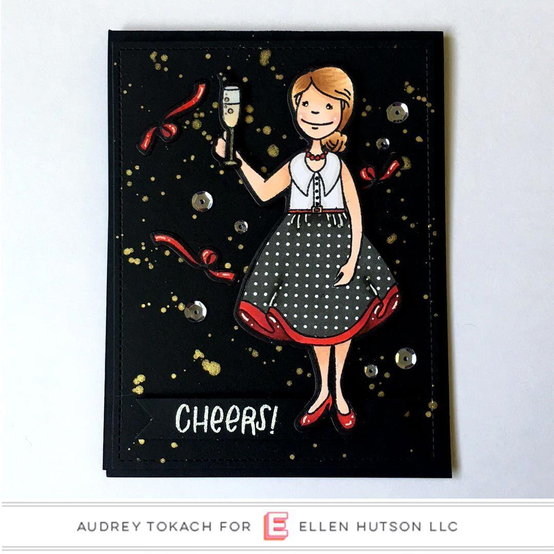 Essentials by Ellen Clear Stamps, Leading Ladies - Celebration Lady By Brandi Kincaid -