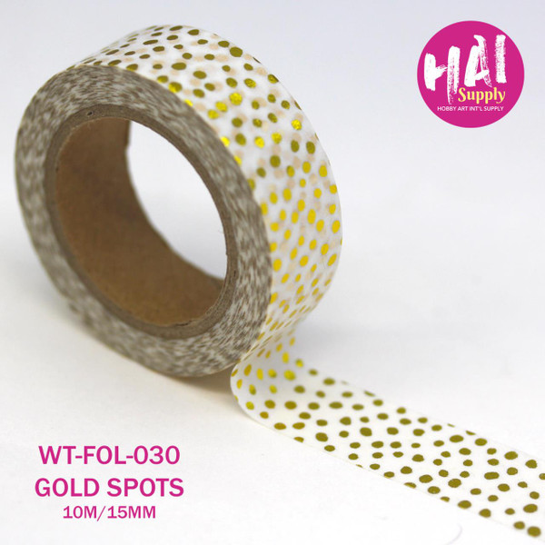HAI Washi Tape, Gold Foil Spots -