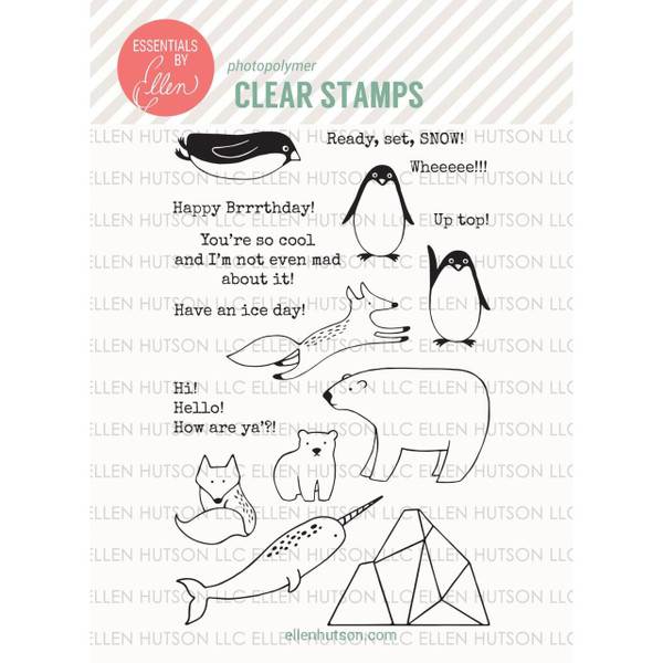 Essentials By Ellen Clear Stamps, Arctic Pals by Julie Ebersole -