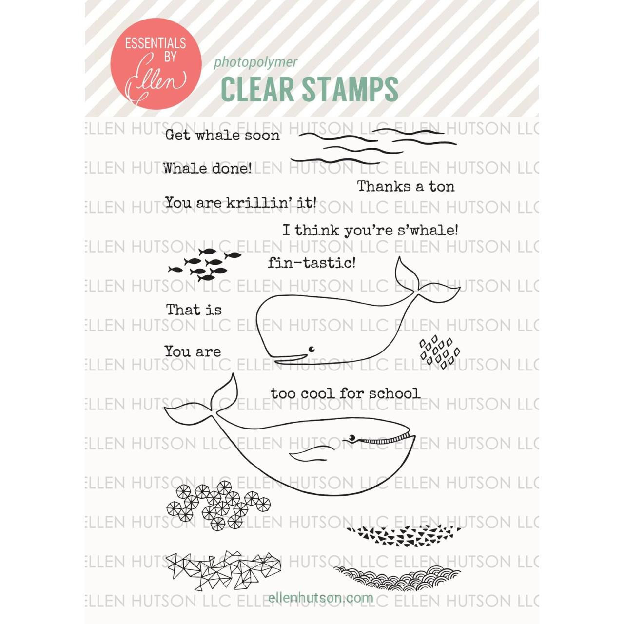 Essentials By Ellen Clear Stamps, S'Whale by Julie Ebersole -