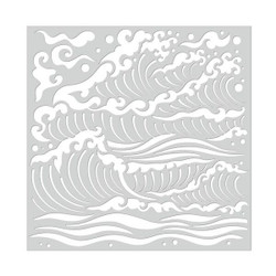 Hero Arts Stencils, Mermaid Sea Waves - 857009149564