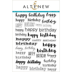 Altenew Clear Stamps, Birthday Builder - 655616164847
