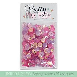 Pretty Pink Posh Sequins, Spring Blooms Mix -