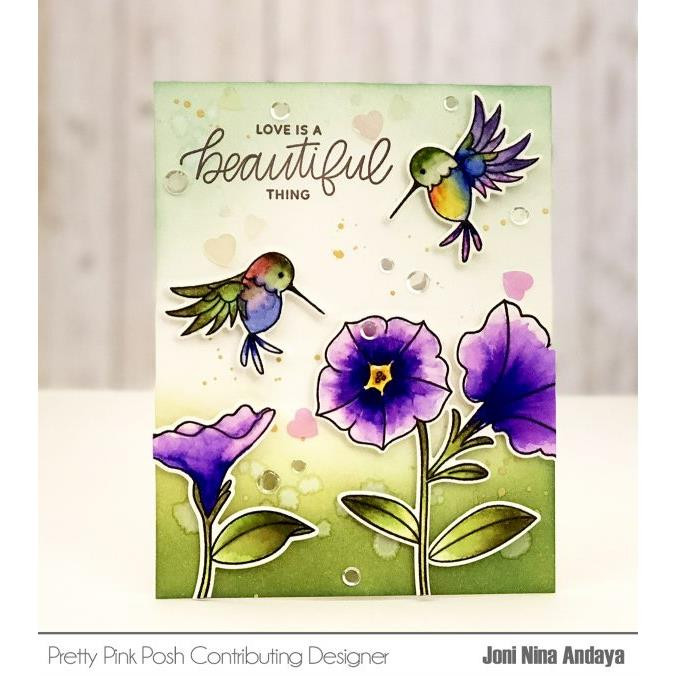 Pretty Pink Posh Clear Stamps, Hummingbird Thanks -