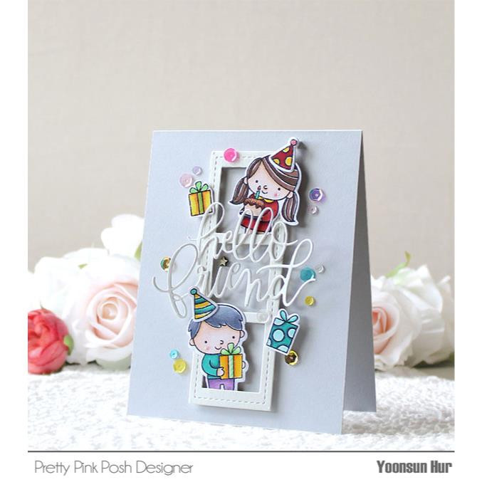 Pretty Pink Posh Clear Stamps, Birthday Friends -