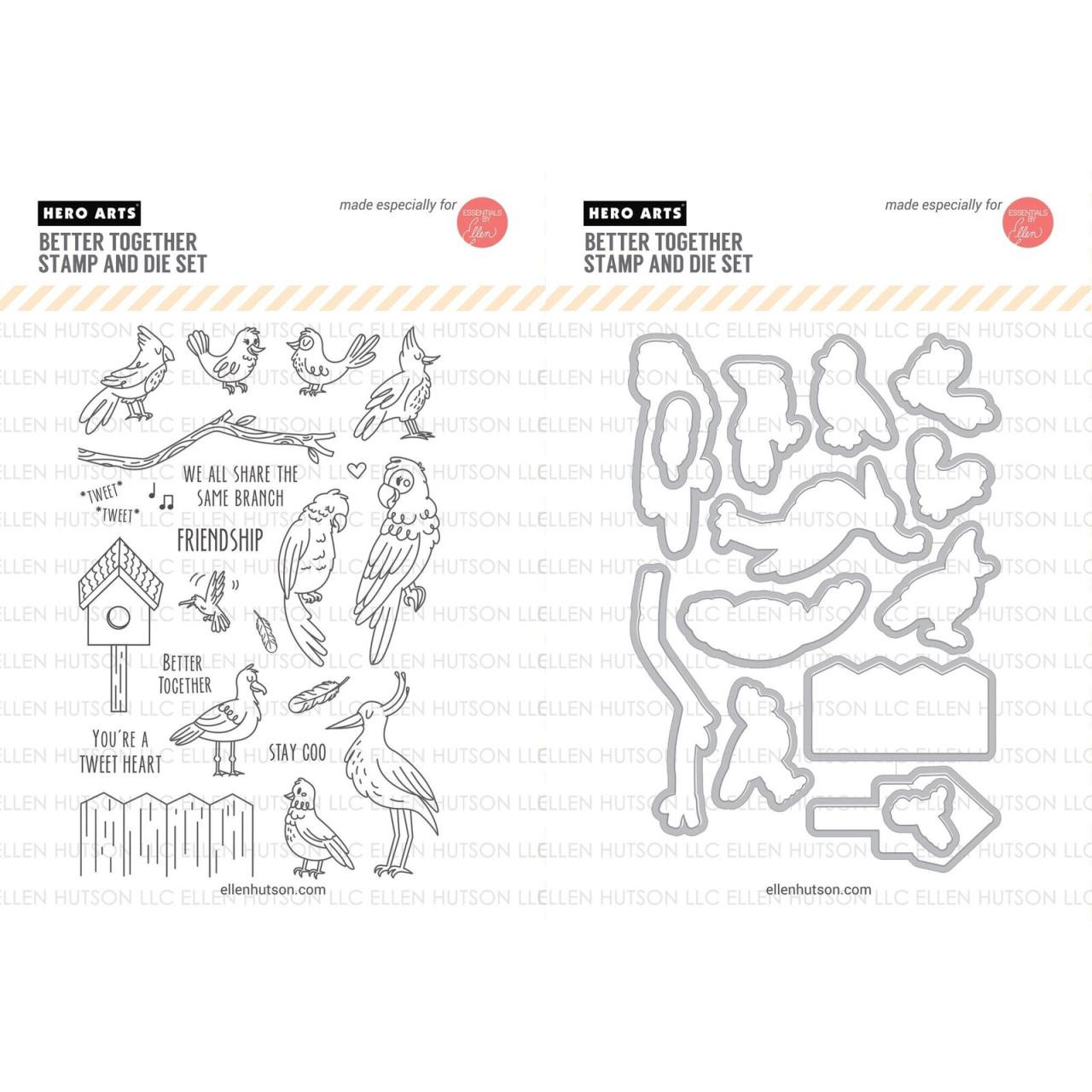 United We Flourish Stamp & Die Combo, Better Together by Hero Arts -