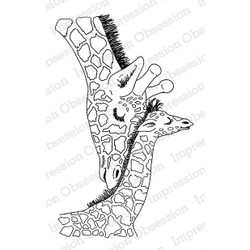 Impression Obsession Cling Stamps, Giraffe Love -