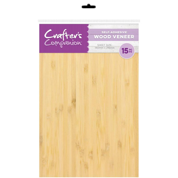 Crafter's Companion Craft Material Pack, Wood Veneer - 15pk - 7.09651E+110