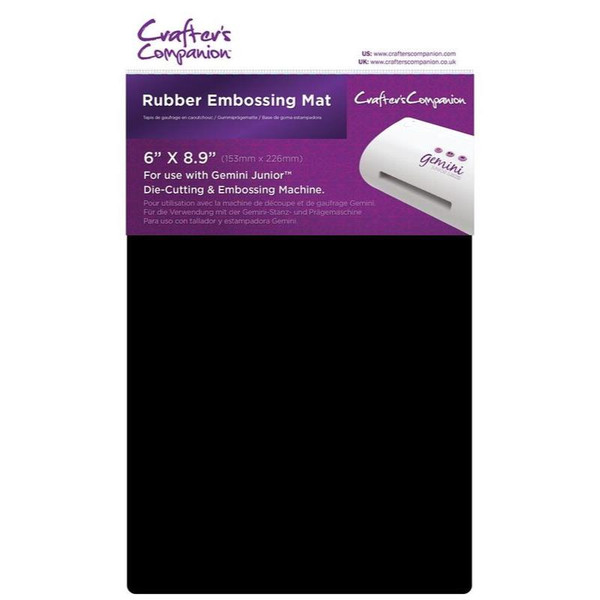 Crafter's Companion Gemini Junior Rubber Embossing Mat - 709650833906