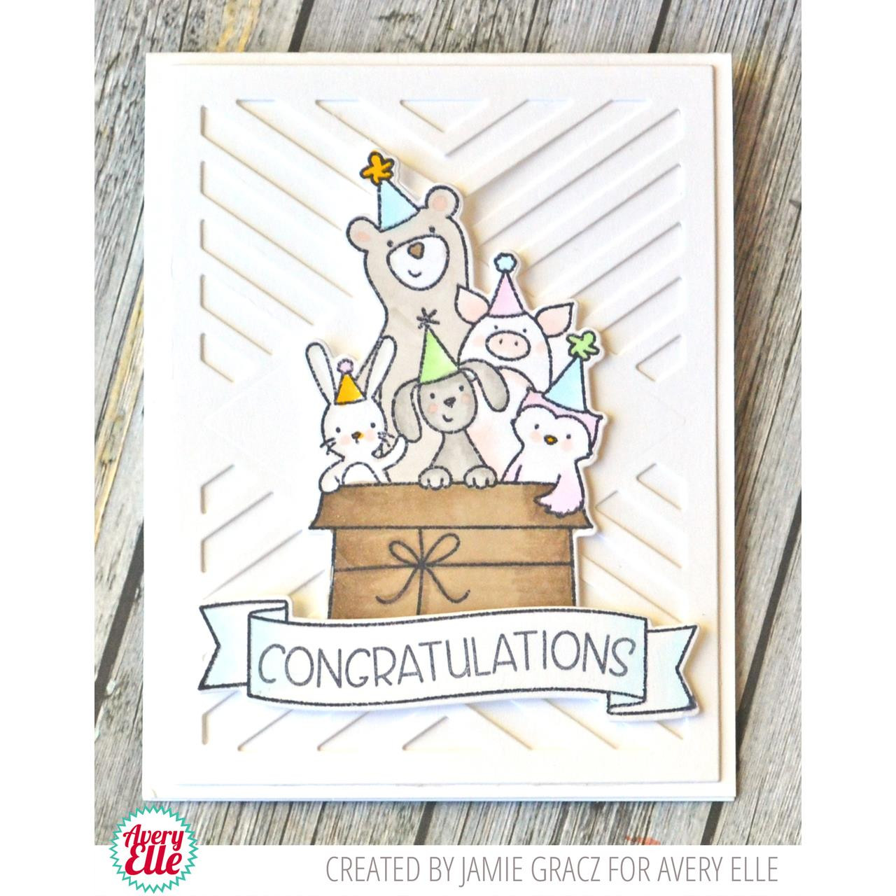 Avery Elle Clear Stamps, Banner Bits - 811568026117
