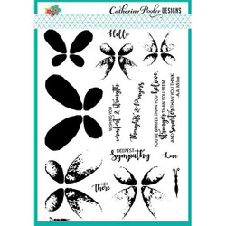 Catherine Pooler Clear Stamps, Faithful Flutterings - 819447020867