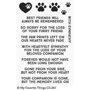 My Favorite Things Clear Stamps, Critter Condolences - 849923023839