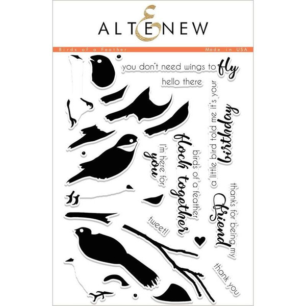 Altenew Clear Stamps, Birds Of A Feather - 655646166032