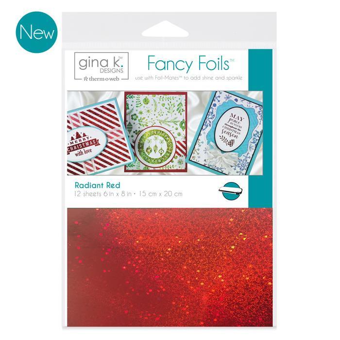 Gina K Designs Fancy Foils, Radiant Red - 000943180623