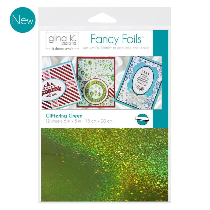 Gina K Designs Fancy Foils, Glittering Green - 000943180630