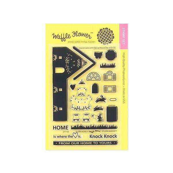 Waffle Flower Clear Stamps, Flora Home - 653341223333
