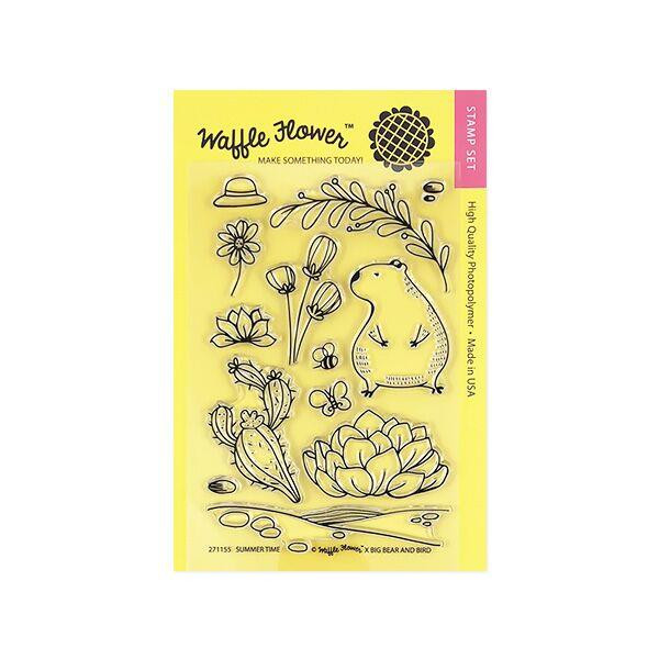 Waffle Flower Clear Stamps, Summer Time - 653341223531