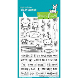 Lawn Fawn Clear Stamps, Toadally Awesome - 035292669345