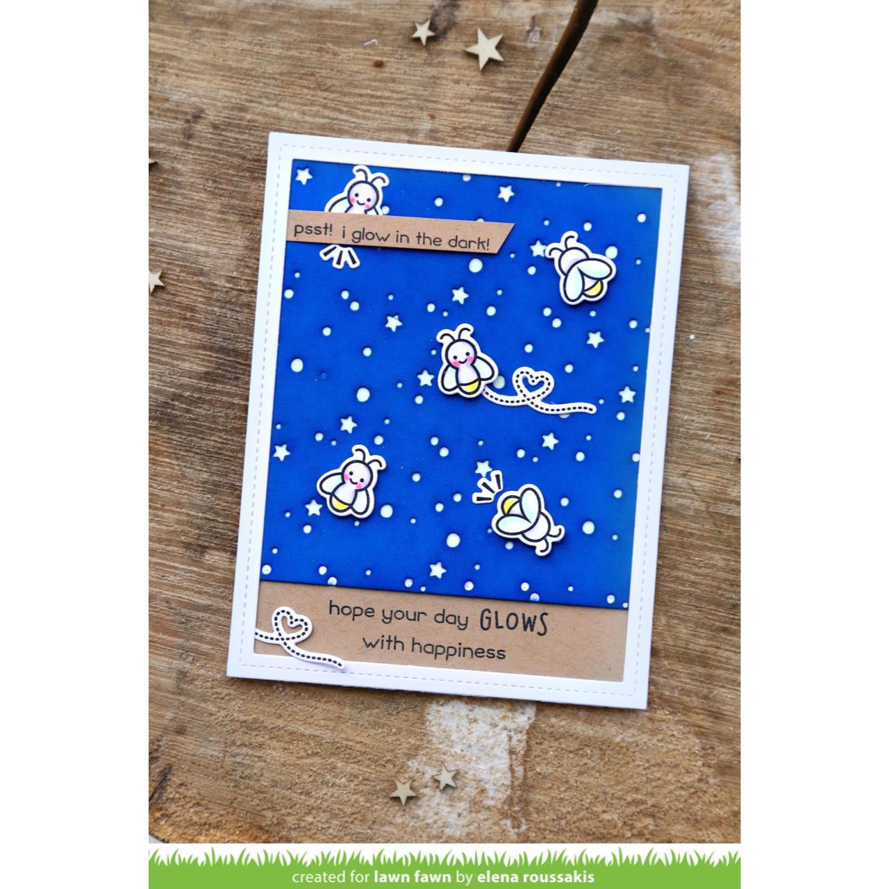 Lawn Fawn Clear Stamps, Lights Out - 035292669840