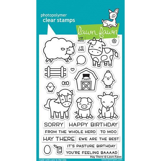 Lawn Fawn Clear Stamps, Hay There - 035292669482