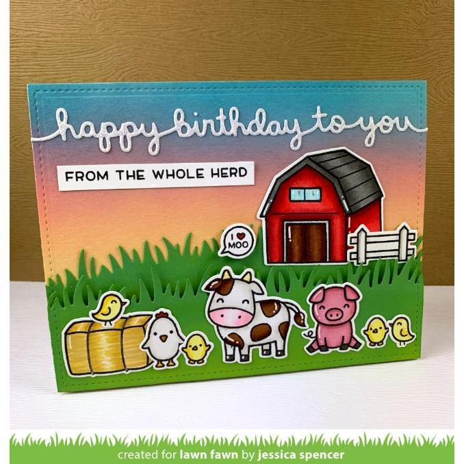 Hay There, Lawn Fawn Clear Stamps - 035292669482