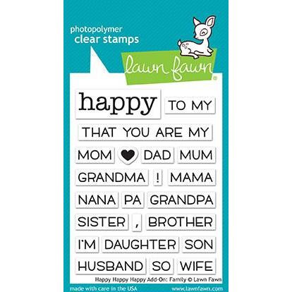 Lawn Fawn Clear Stamps, Happy Happy Happy Add-on: Family - 035292669383