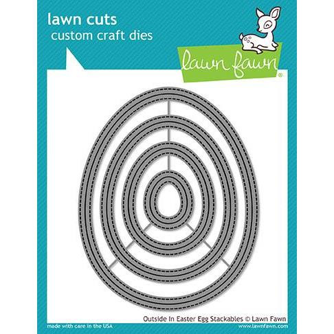 Lawn Cuts Dies, Outside In Easter Egg Stackables - 035292669802