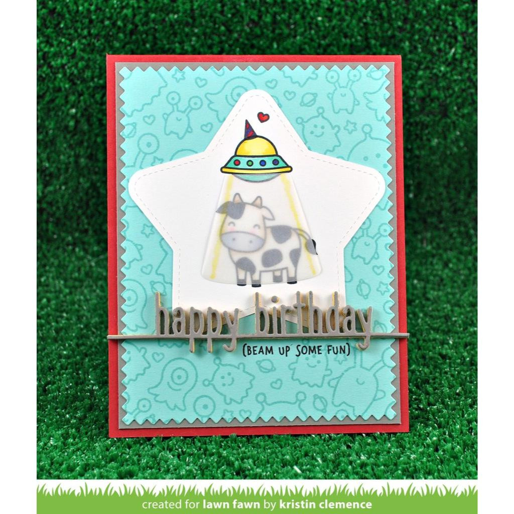 Lawn Cuts Dies, Happy Birthday Line Border - 035292669680