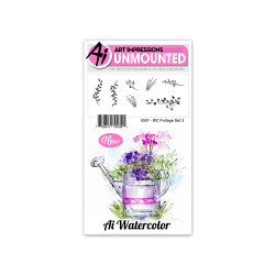 Art Impressions Cling Stamps, Watercolor Foliage Set 3 - 750810794391