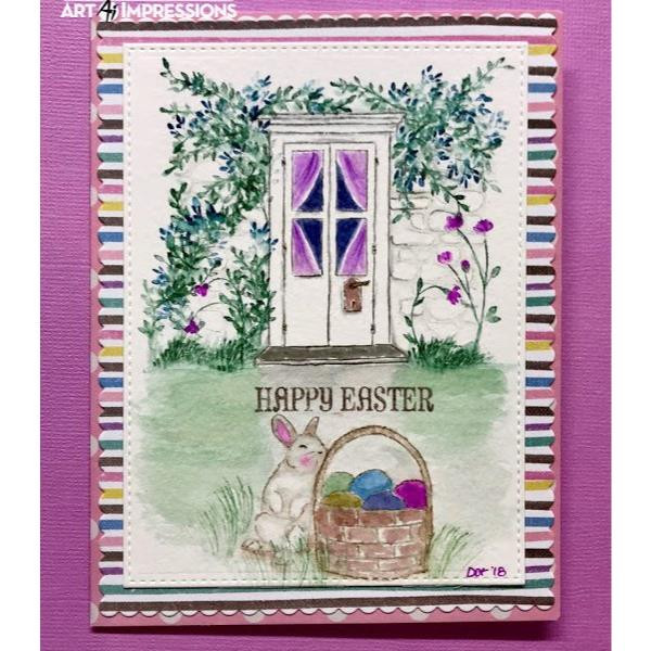 Art Impressions Cling Stamps, Watercolor Door Set - 750810794452