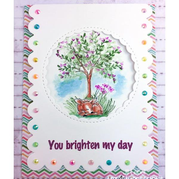 Watercolor Mini Critter Set, Art Impressions Cling Stamps - 750810794483