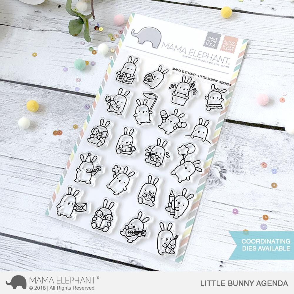 Mama Elephant Clear Stamps, Little Bunny Agenda -