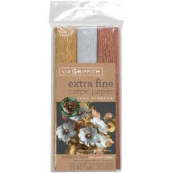 Lia Griffith Extra Fine Crepe Paper, Metallic Assortment - 190705000846