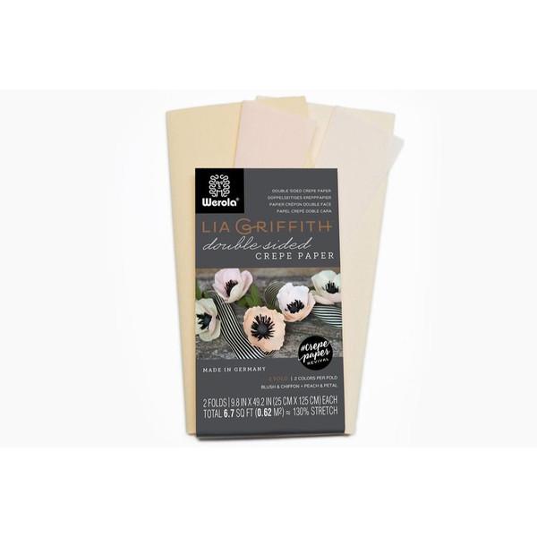Lia Griffith Double Sided Crepe Paper, Blush & Chiffon + Petal & Peach - 190705000525