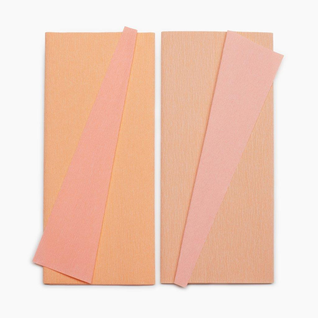 Honeysuckle & Coral + Apricot & Light Rose, Lia Griffith Double Sided Crepe Paper - 190705000556
