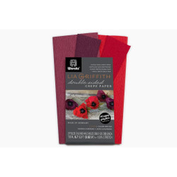 Lia Griffith Double Sided Crepe Paper, Sangria & Aubergine + Cherry & Raspberry - 190705000617