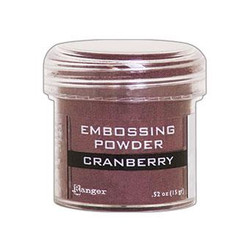 Ranger Embossing Powder, Cranberry Metallic -